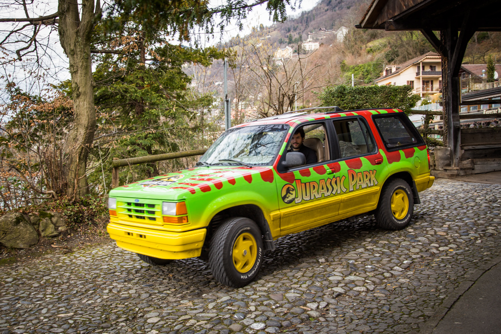 Jurassic Park car Switzerland