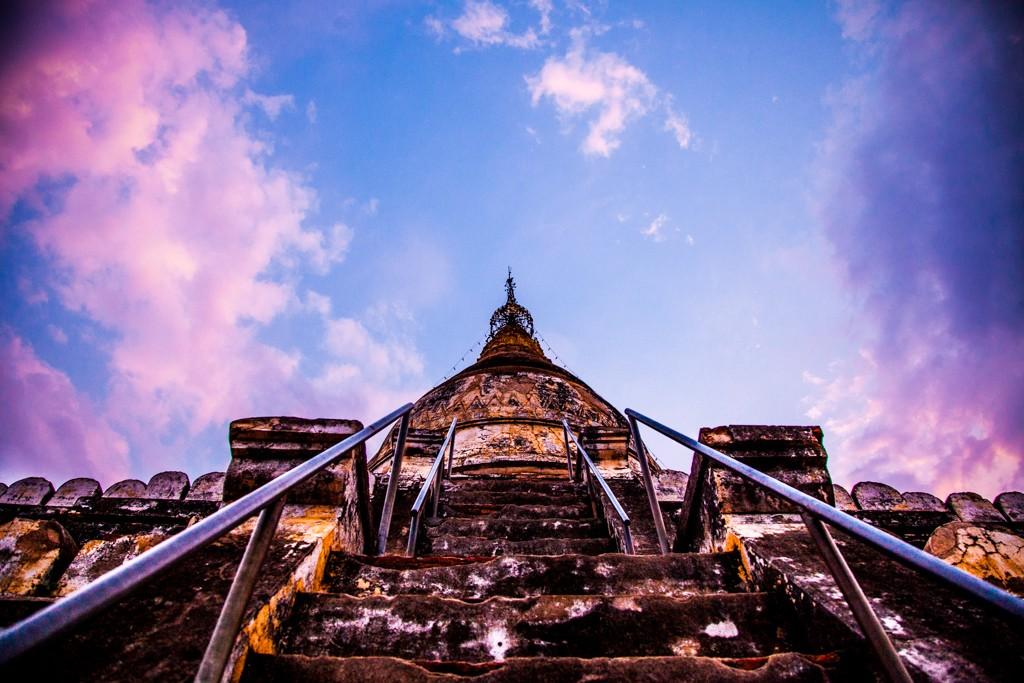climbing pagodas