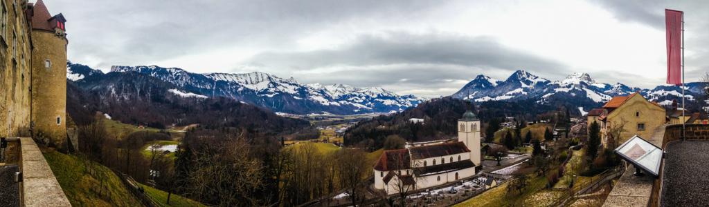 Gruyeres Panoramic Switzerland