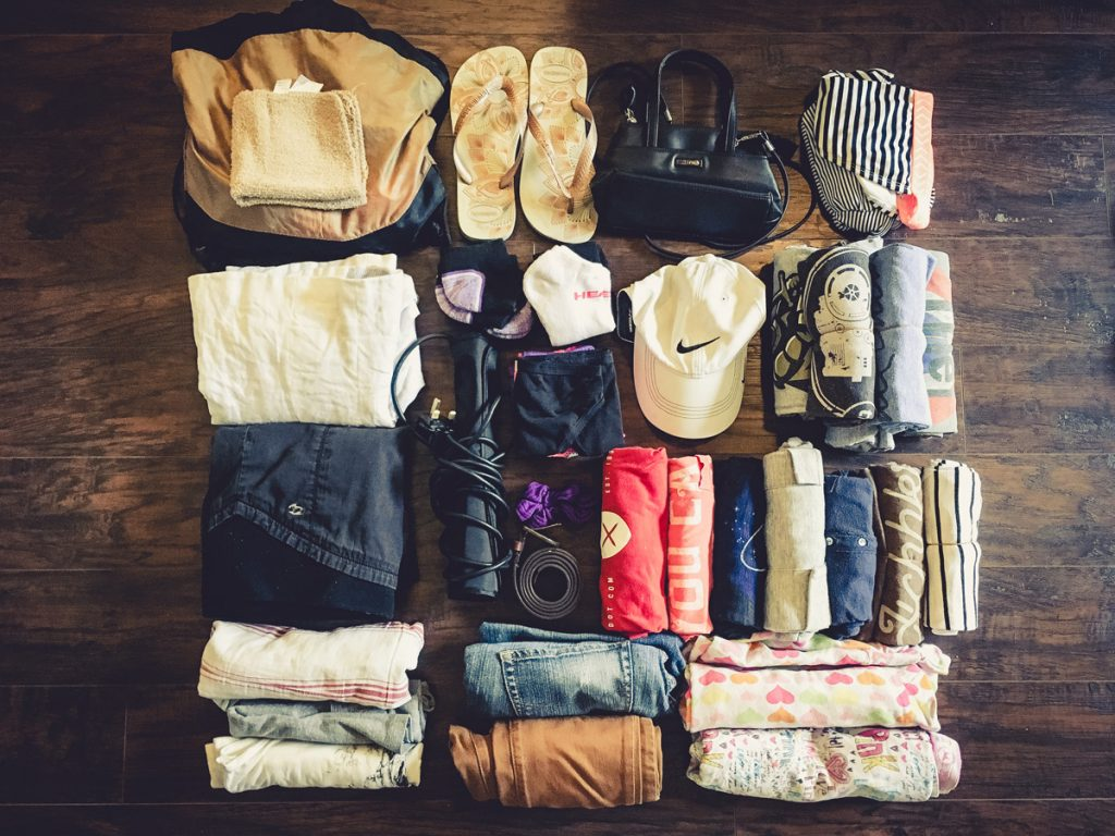 carry on luggage only packing for long trips